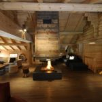 cheminee centrale bois
