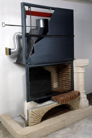 prix cheminee foyer ouvert avec recuperateur chaleur. Black Bedroom Furniture Sets. Home Design Ideas