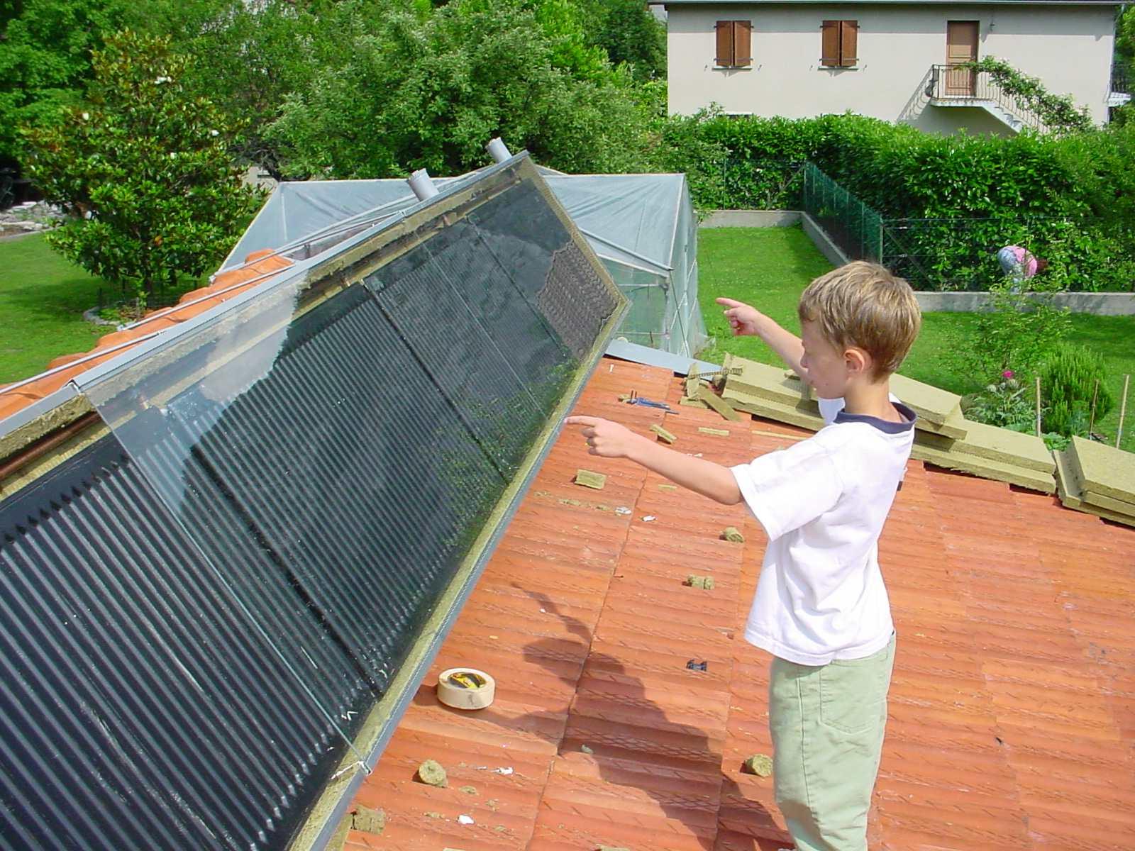 chauffe eau solaire radiateur