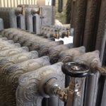 radiateur fonte fleuri neuf