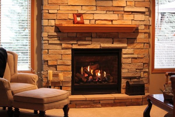 cheminee moderne brique