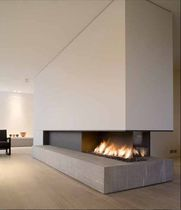 cheminee foyer ouvert contemporaine