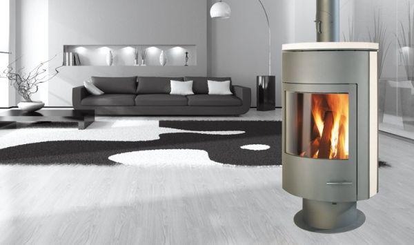 Photo cheminee moderne invicta for Deco de mure poele a bois nimes
