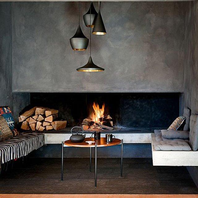 modèle cheminee moderne maison ancienne