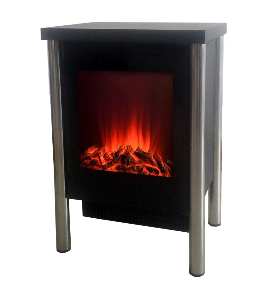 photo cheminee electrique feu de bois 2000w noir piccolo. Black Bedroom Furniture Sets. Home Design Ideas
