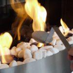 cheminee ethanol galet