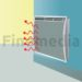 radiateur rayonnant nid d'abeille