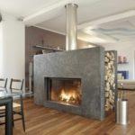 cheminee moderne pierre
